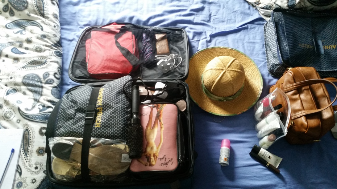 Packing a hand luggage suitcase for the first weekend away without the baby